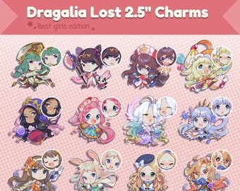 """MORE Dragalia Lost 2.5"""" Double-Sided Charms"""