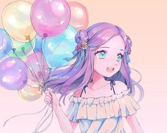 "Original Balloons 11x14"" Poster"
