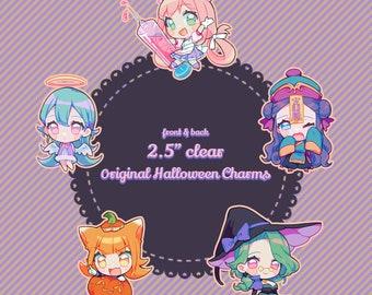 """Halloween OC 2.5"""" Clear Acrylic Charms"""