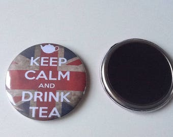 Very nice 56 mm Keep calm And drink thea Magnet