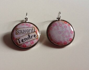 Romantic silver plated earrings