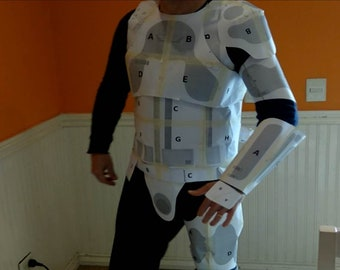 stormtrooper full armor foam templates cosplay costume etsy