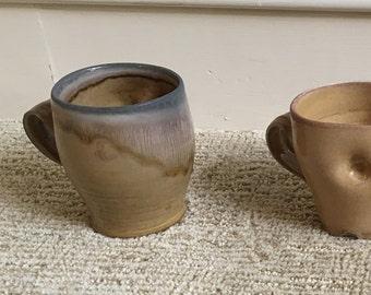 4 haystack soda fired mugs