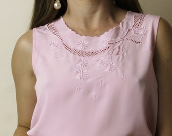 0a9ebed0d96f3 Pink silky tank top