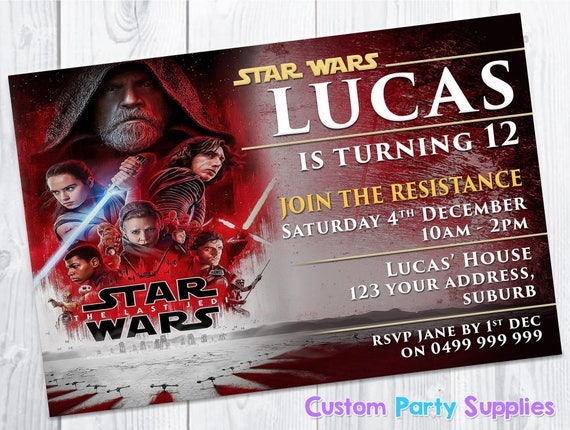 Star Wars The Last Jedi Personalised Birthday Greetings Card any name age