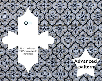 Novelty cloth pad pattern: Moroccan Inspired + instructions