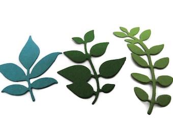 Leaves Die Cuts, Green leaves, Leaf Die Cut, Decorative Leaf, Leaf Shapes, Die Cuts, Green Decoration, Floral Card Decoration, Scrapbooking