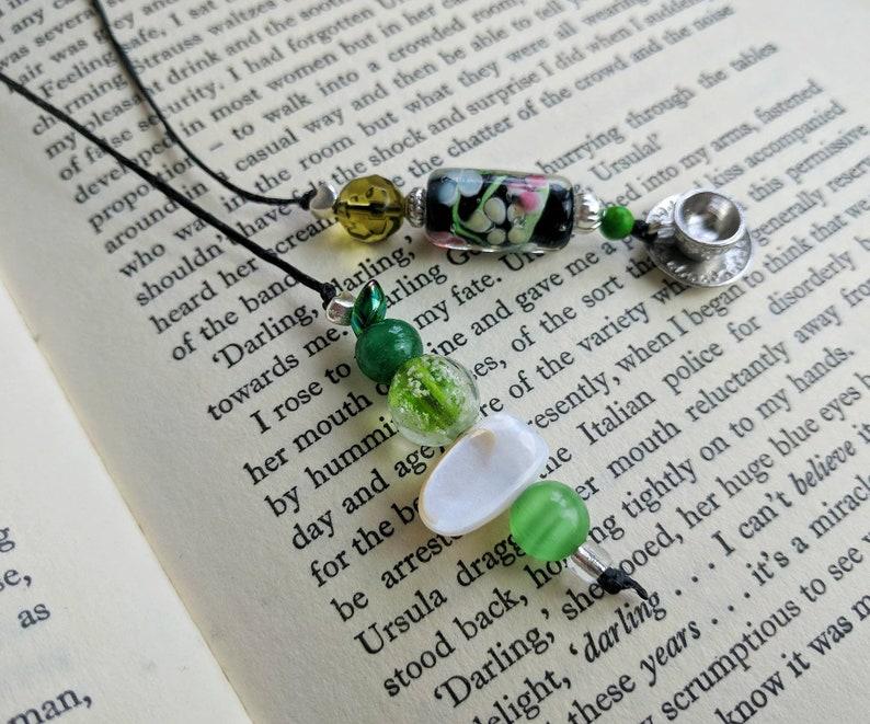 Tibetan Silver Bookmark-Blue Beads /& SEASHELLS//SHELLS Christmas//Birthday Gift.