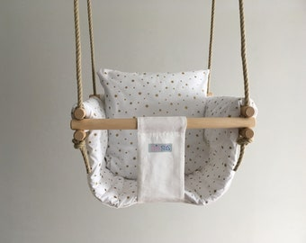 Baby Swing Set With Soft And Fluffy Extra Padding Nursery Etsy