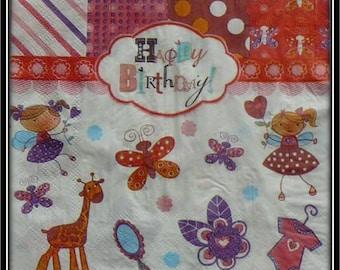 """""""Happy Birthday"""" paper towel"""