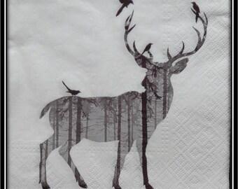 "paper towel deer silhouette ""filling forest"""