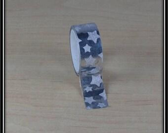 Washi tape 15mm x 3 m silver dot
