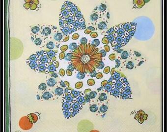 paper napkin flower