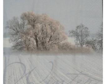 """""""winter"""" winter paper towel"""