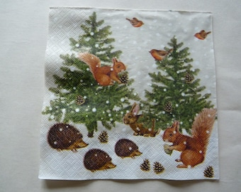 """""""our forest wildlife"""" winter paper towel"""
