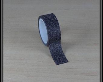 masking tape glittery black 15mm x 3 m