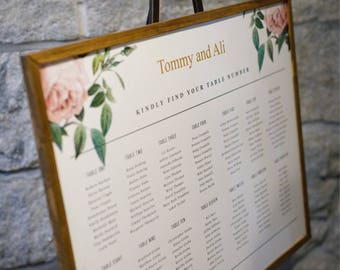 Table Seating Chart, Wedding Seating Chart, Wedding Decor, Table Seating Assignment, Seating Chart, Custom Seating Chart