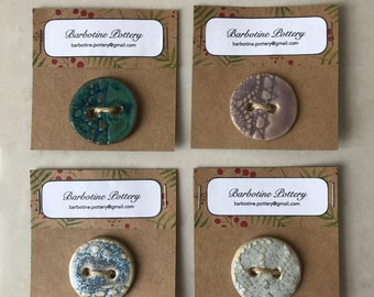 Large Lace clay buttons