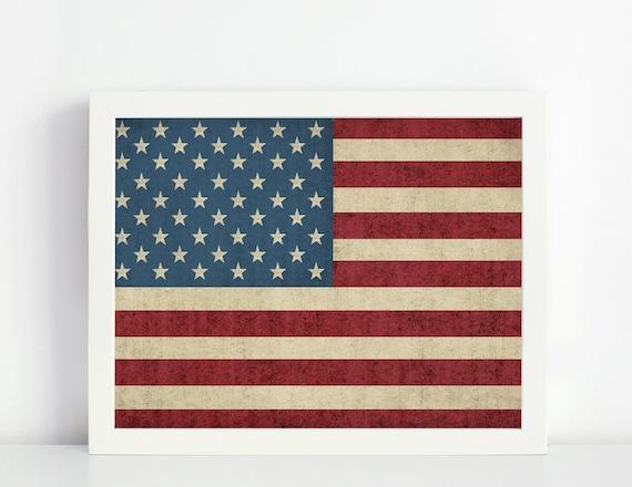 photograph relating to Usa Flag Printable identified as US flag, US print, Printable artwork, Impressive Wall Artwork, American Flag Print, Property Decor Print, Basic US Flag, Classic American Flag, flag print
