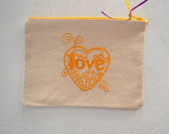 Exclusive love yellow 22x16cm collection pouch