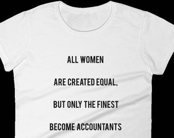 Awesome T-shirt for Women Accountants