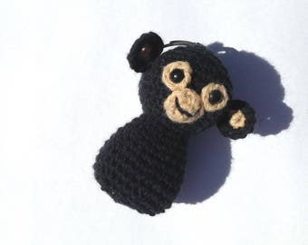 Key fob cute monkey crochet