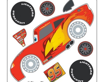 photograph regarding Lightning Mcqueen Printable Decals called Lightning like tags Etsy