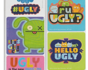 20 UglyDolls Vibrant STICKERS Party Favors Birthday Treat Loot Bags Ugly Dolls