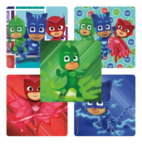 db5a3d260bb 25 PJ Masks Stickers 2.5 x 2.5 Each