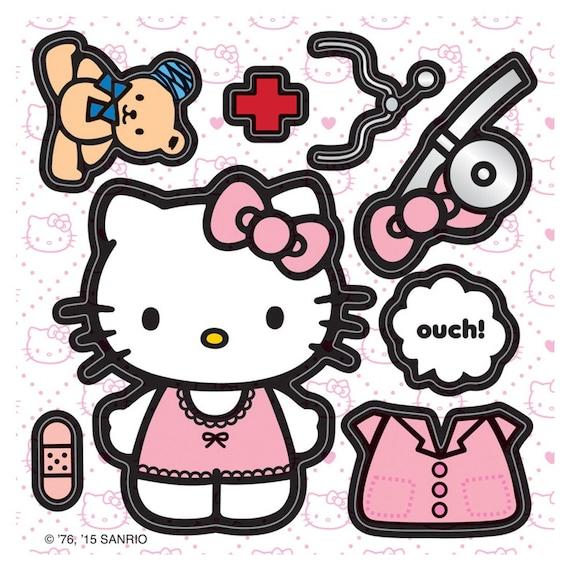 Nursing Vinyl Decal FREE Shipping Car Hello Kitty Nurse Window Sticker