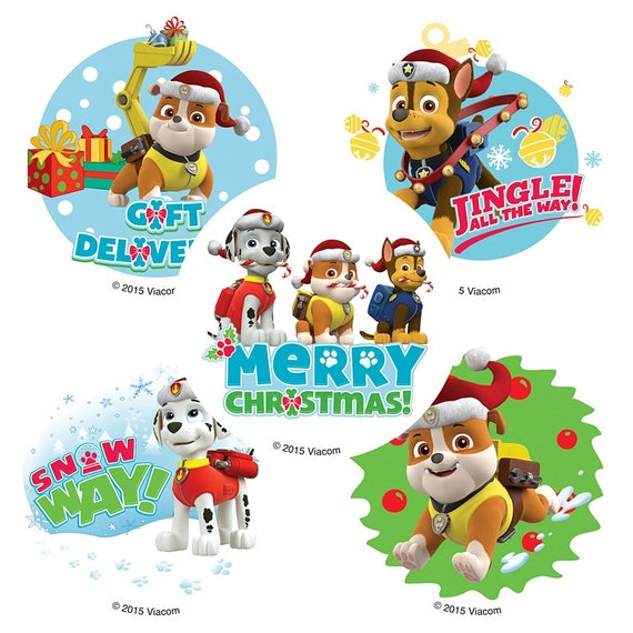 """2.5/"""" x 2.5/"""" each Party Favors 25 Paw Patrol Character Badge Stickers"""
