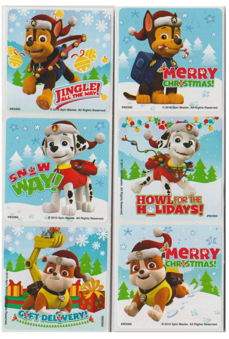 Paw Patrol Christmas.30 Paw Patrol Christmas Stickers 2 5 X 2 5 Each