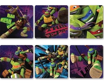 """30 Teenage Mutant Ninja Turtles TMNT Stickers, 2.5"""" x 2.5"""""""