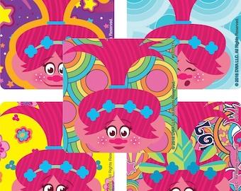 "25 Trolls Poppy Stickers, 2.5"" x 2.5"" Each"