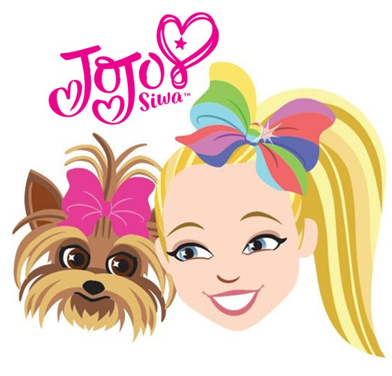 """JoJo Siwa and Bow Bow Iron On Transfer 5""""x5"""" for LIGHT Colored Fabric"""