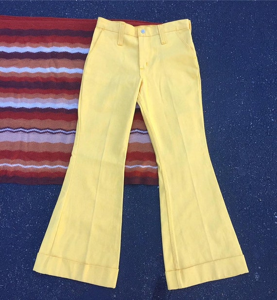 1970s Canary Yellow Bell Bottoms