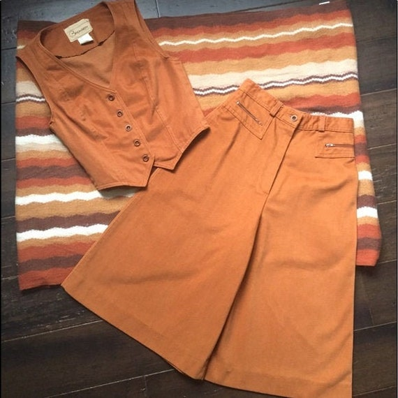 1970s Gaucho Vest & Pants Set