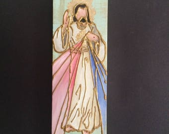 4 x 12 Image of The Divine Mercy on Gallery Canvas