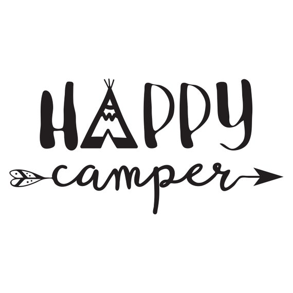 Camping Svg Happy Camper Dxf