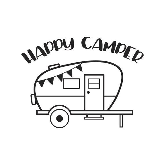 Camper Svg Camping Happy