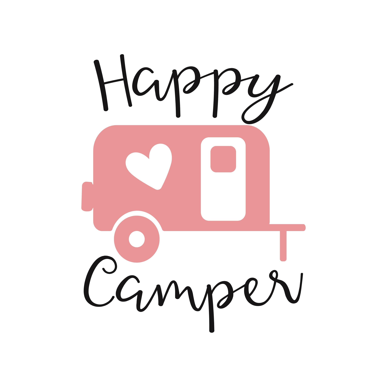 happy camper svg camper svg happy camper dxf camping | Etsy