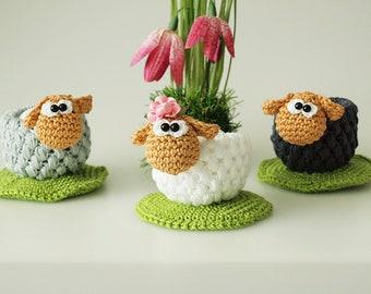 Crochet Instructions Egg Cup Sheep - PDF File