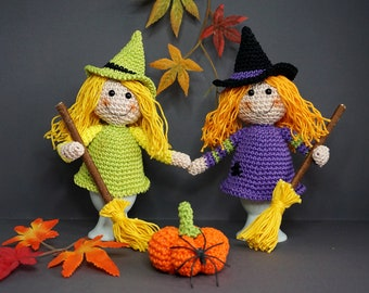 Crochet Instructions Egg Warmer Witches with Bline and Pumpkin - PDF File