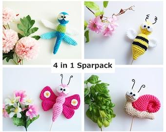 Crochet Instructions Flower Plug Animals 4 in 1 - PDF file