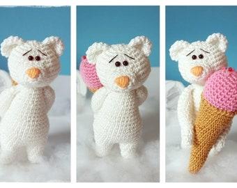 Polar bear with ice-cream cone, PDF file