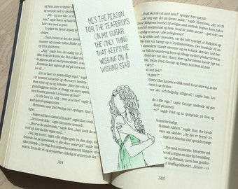 "Taylor Swift ""Teardrops On My Guitar"" bookmark"