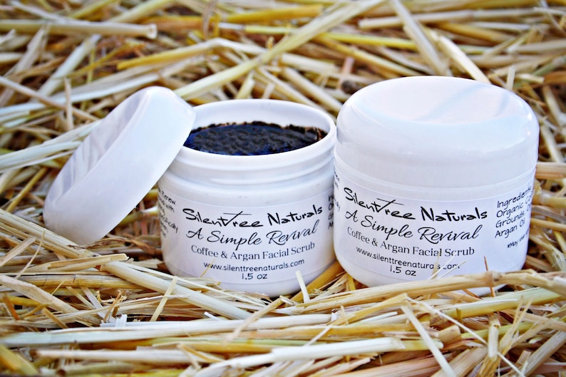 Coffee & Argan Facial Scrub  A Simple Revival Natural image 0