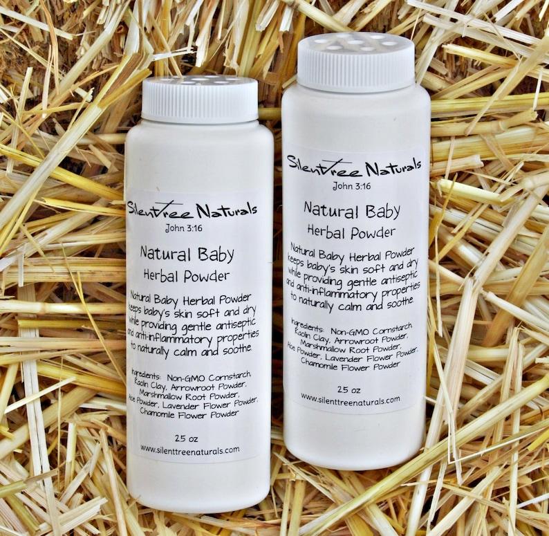 Natural Baby Herbal Powder-All Natural Baby Powder Talc-Free image 0