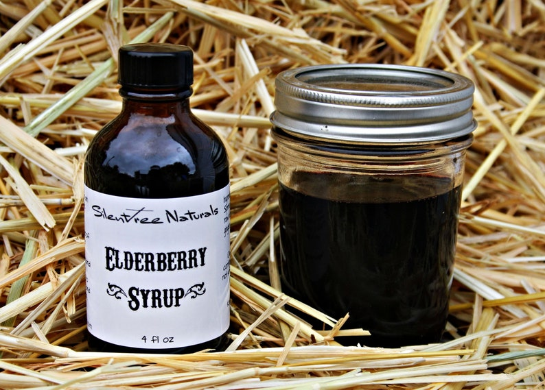 Elderberry Syrup Natural Immune Booster 4 fl oz Amber Bottle image 0