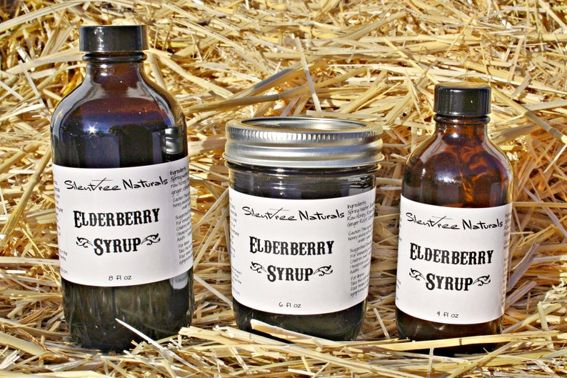 Elderberry Syrup Organic Natural Immune Booster 4 6 or 8 image 0